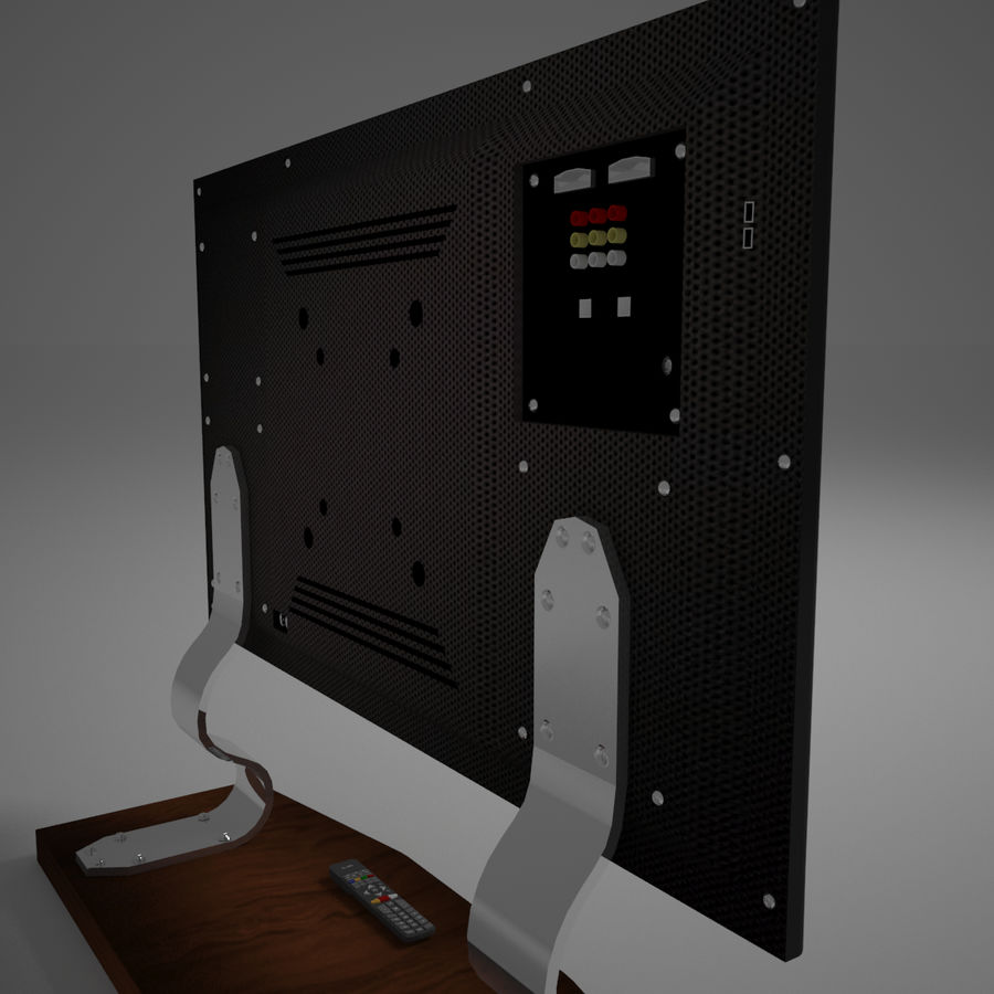 Led TV royalty-free 3d model - Preview no. 14