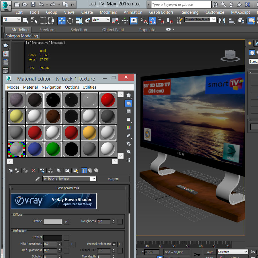 Led Tv royalty-free 3d model - Preview no. 26