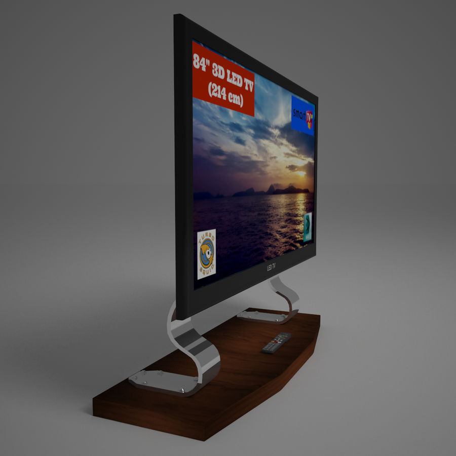 Led Tv royalty-free 3d model - Preview no. 4