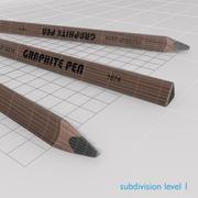 トライアングルグラファイトペン 3d model