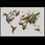 World Map 3d model