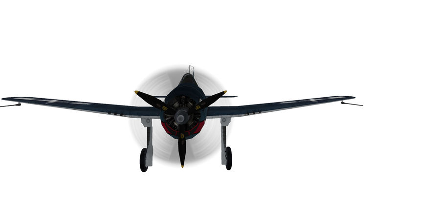 F6F_Hellcat Fighter royalty-free 3d model - Preview no. 2