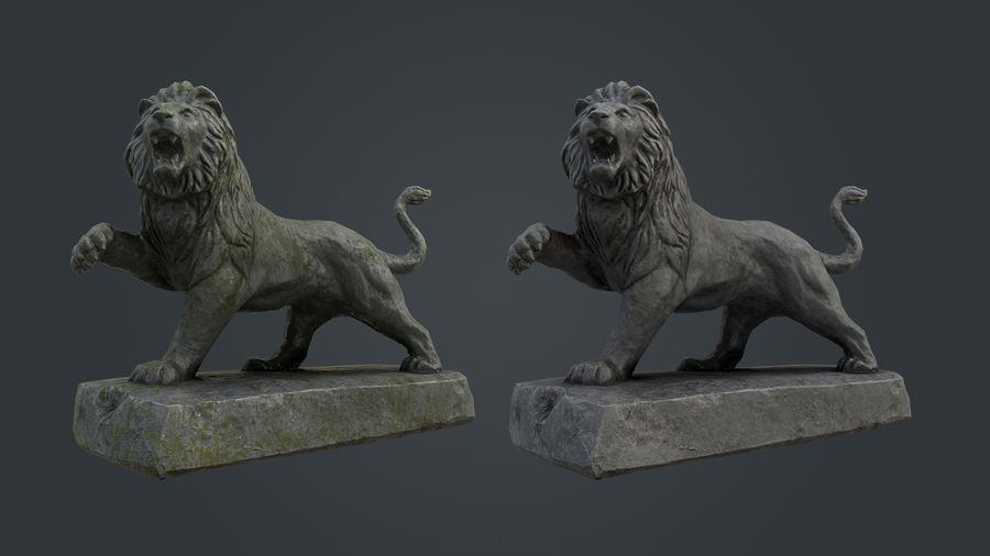 Lion Statue royalty-free 3d model - Preview no. 7