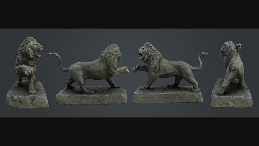 Lion Statue royalty-free 3d model - Preview no. 3