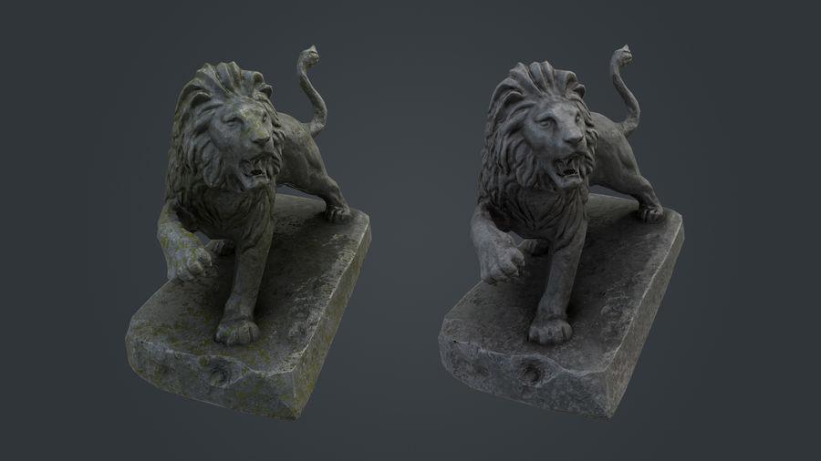 Lion Statue royalty-free 3d model - Preview no. 10