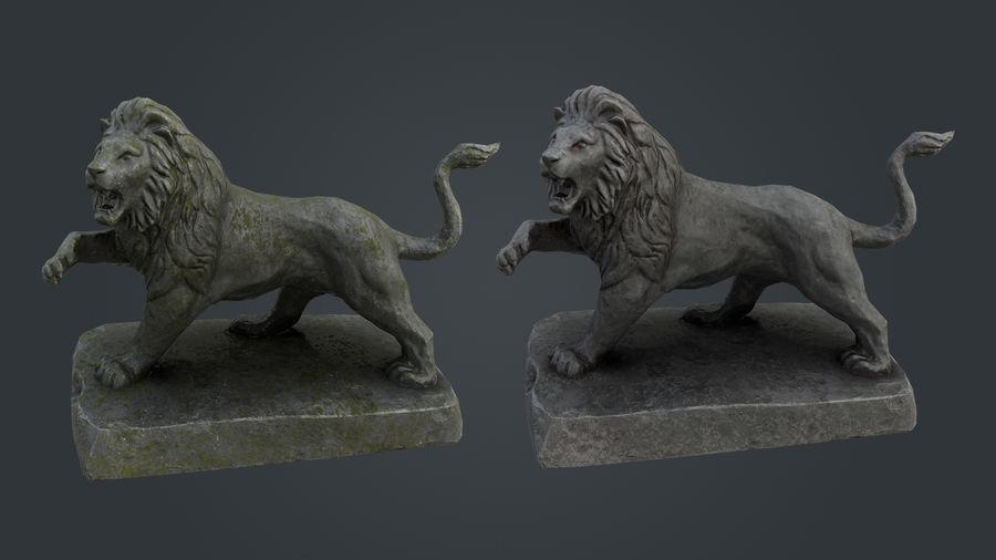 Lion Statue royalty-free 3d model - Preview no. 9