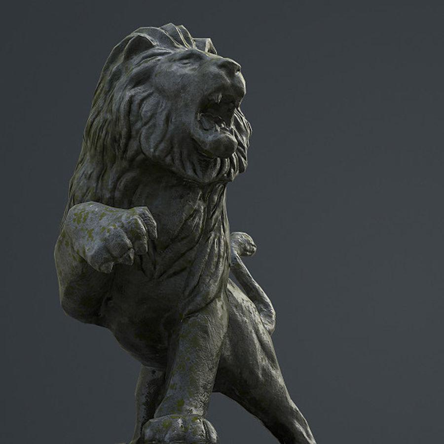 Lion Statue royalty-free 3d model - Preview no. 1