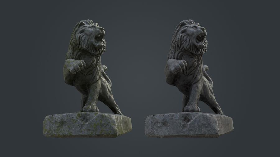 Lion Statue royalty-free 3d model - Preview no. 8