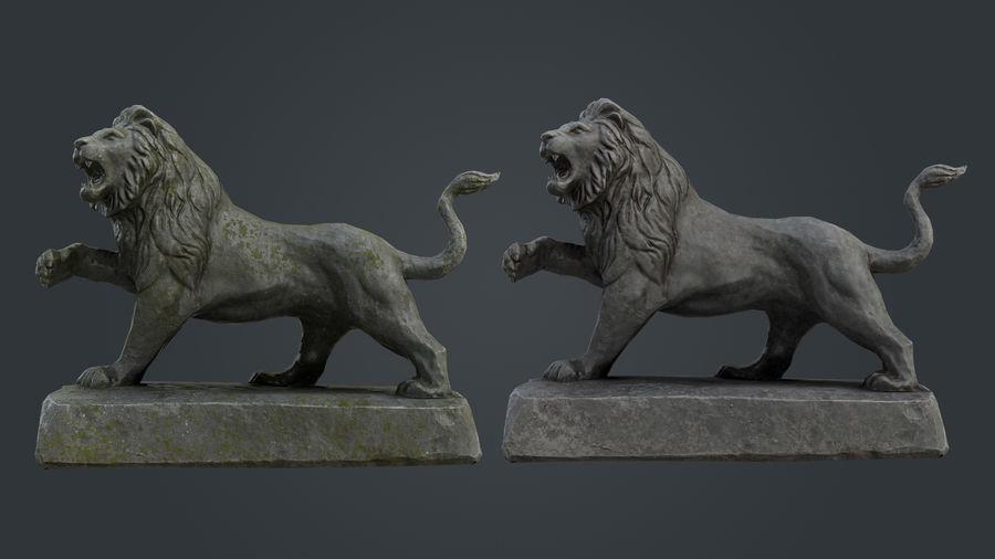 Lion Statue royalty-free 3d model - Preview no. 6