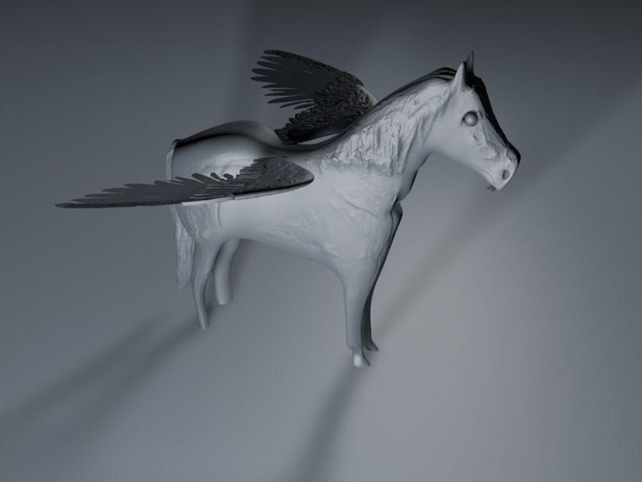 Pegasus royalty-free 3d model - Preview no. 3