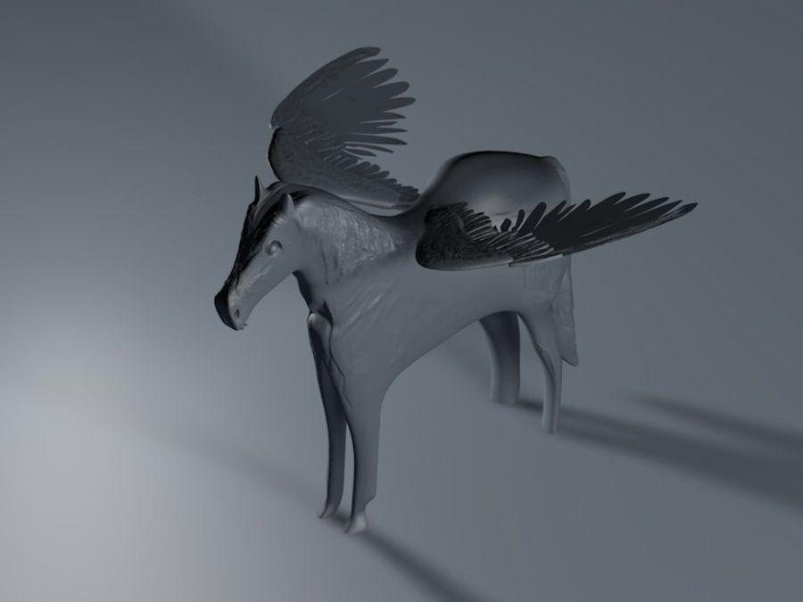 Pegasus royalty-free 3d model - Preview no. 4