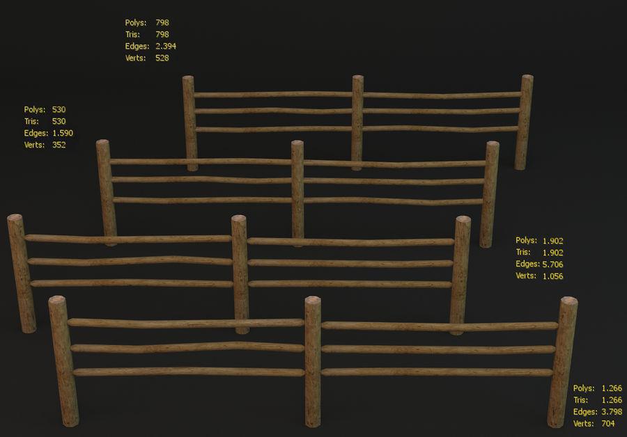 Recinzione in legno royalty-free 3d model - Preview no. 1