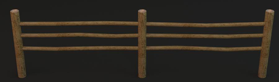 Recinzione in legno royalty-free 3d model - Preview no. 8