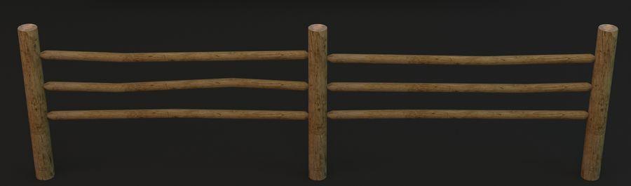 Recinzione in legno royalty-free 3d model - Preview no. 6