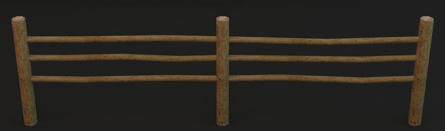 Recinzione in legno royalty-free 3d model - Preview no. 7