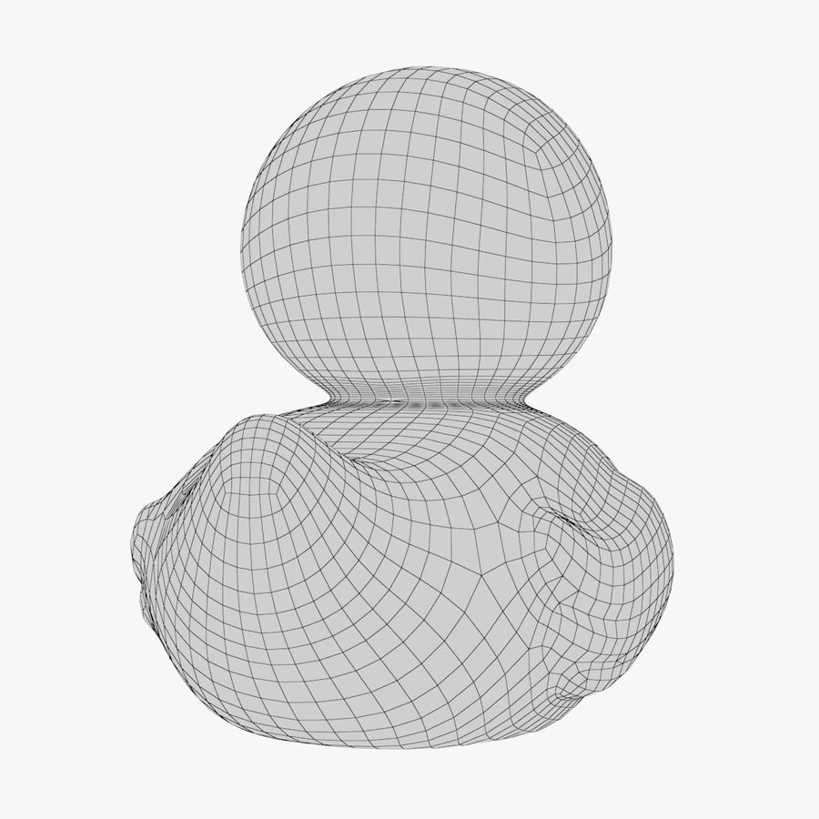 Rubber Duck 02 1 royalty-free 3d model - Preview no. 17