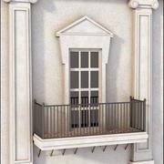 Ventana del balcón modelo 3d
