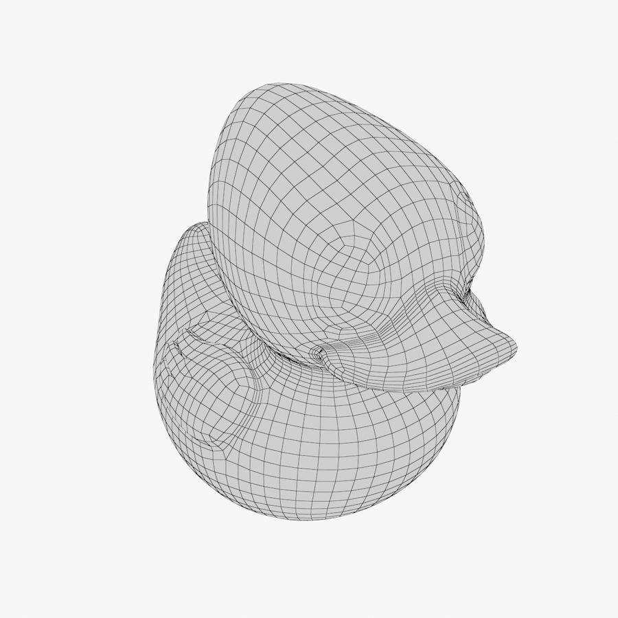 Rubber Duck 03 2 royalty-free 3d model - Preview no. 12