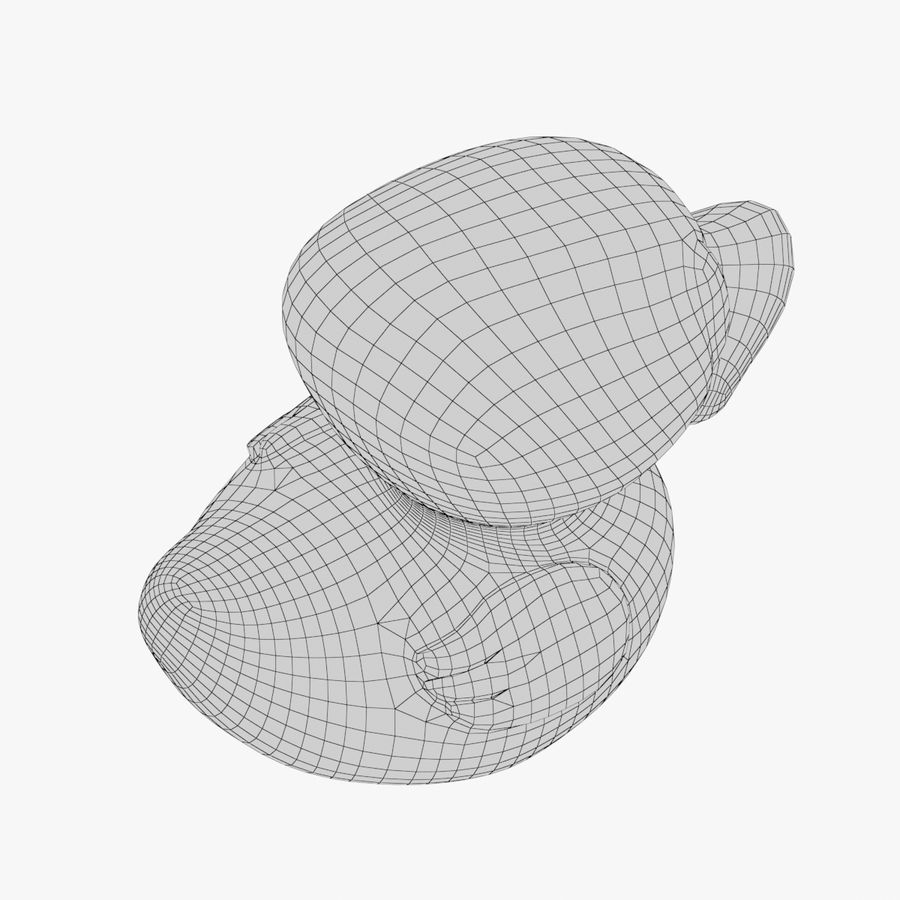Rubber Duck 03 2 royalty-free 3d model - Preview no. 14
