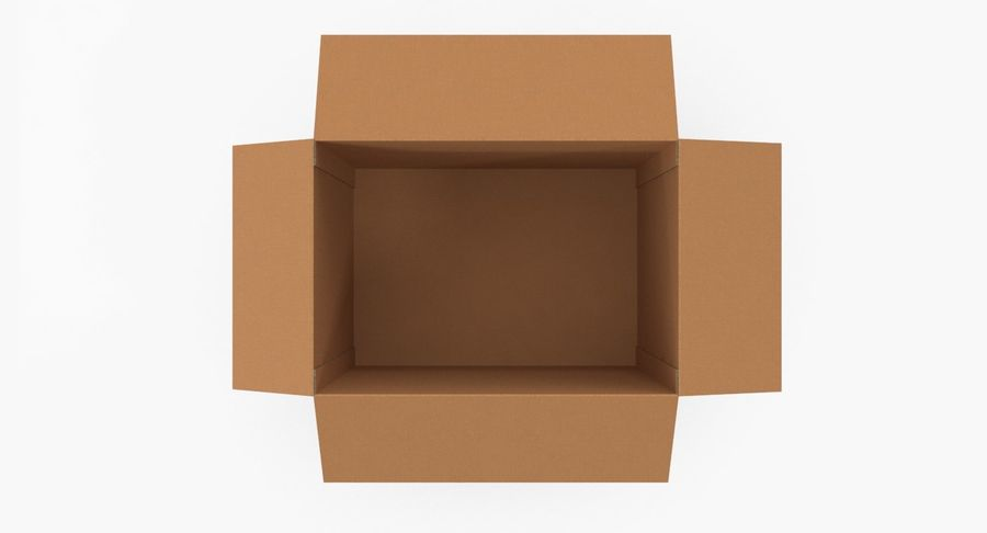 Cardboard Box royalty-free 3d model - Preview no. 8