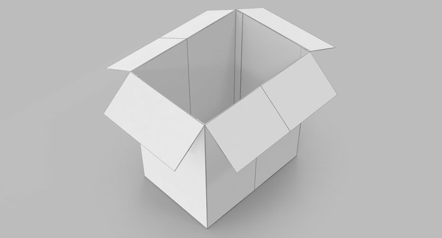 Cardboard Box royalty-free 3d model - Preview no. 10