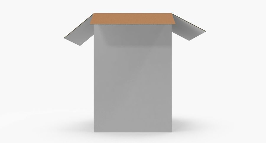 Cardboard Box royalty-free 3d model - Preview no. 7