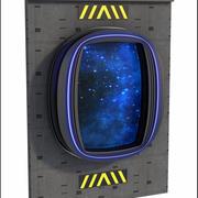 Ventana de ciencia ficción modelo 3d