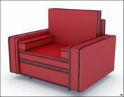 Leather Armchair V1 3d model