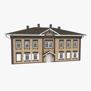 古い歴史的なログハウス 3d model