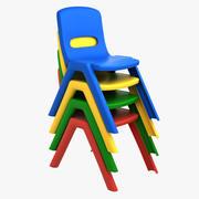Детский стул 3d model