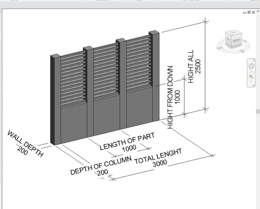 Fence Wall royalty-free 3d model - Preview no. 7