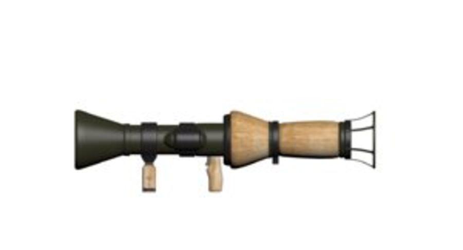 Cartoon Bazooka royalty-free 3d model - Preview no. 1