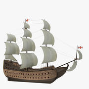 Historical sailing ship 3d model