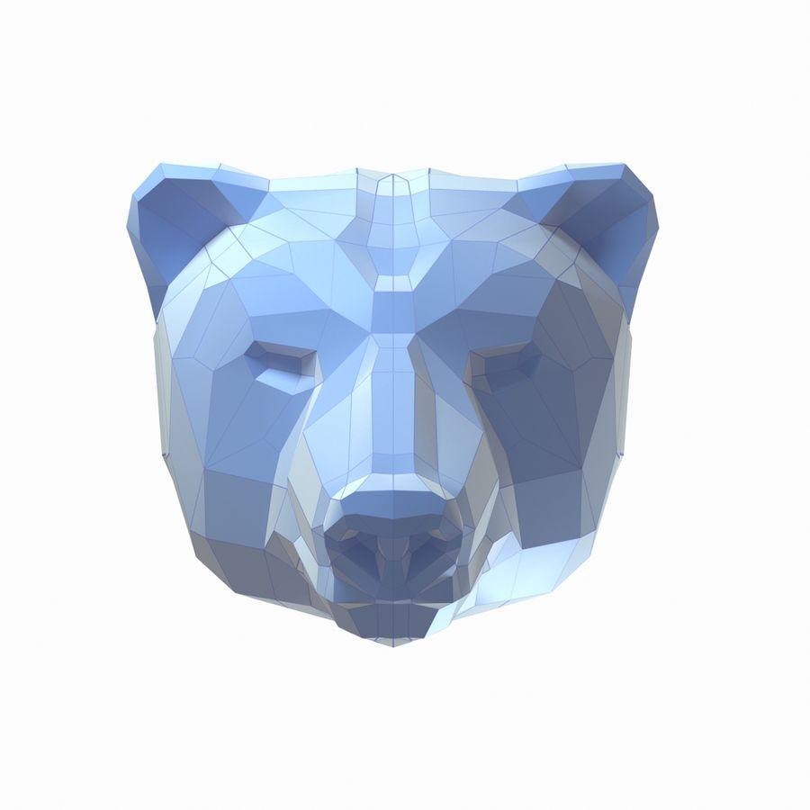 熊头纸模型 royalty-free 3d model - Preview no. 2