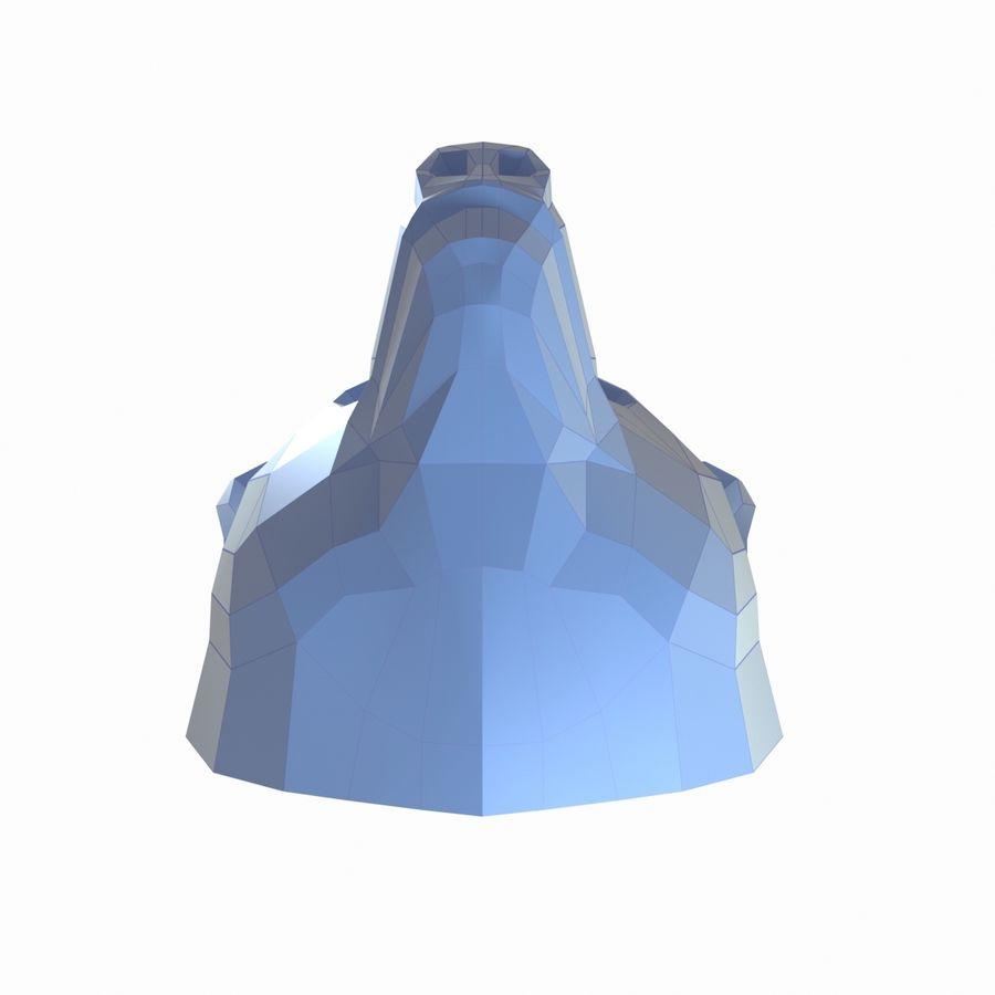 熊头纸模型 royalty-free 3d model - Preview no. 4