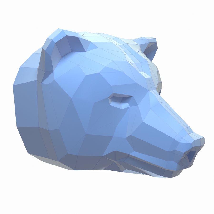 熊头纸模型 royalty-free 3d model - Preview no. 1