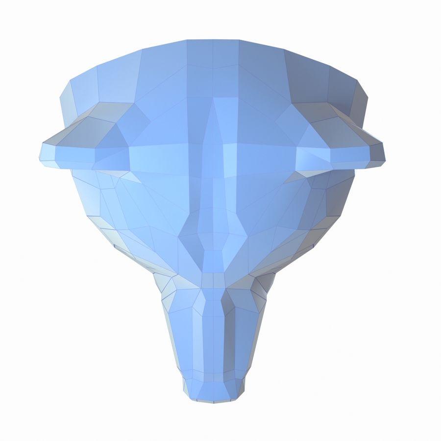 Papercraft de cabeça de urso royalty-free 3d model - Preview no. 5