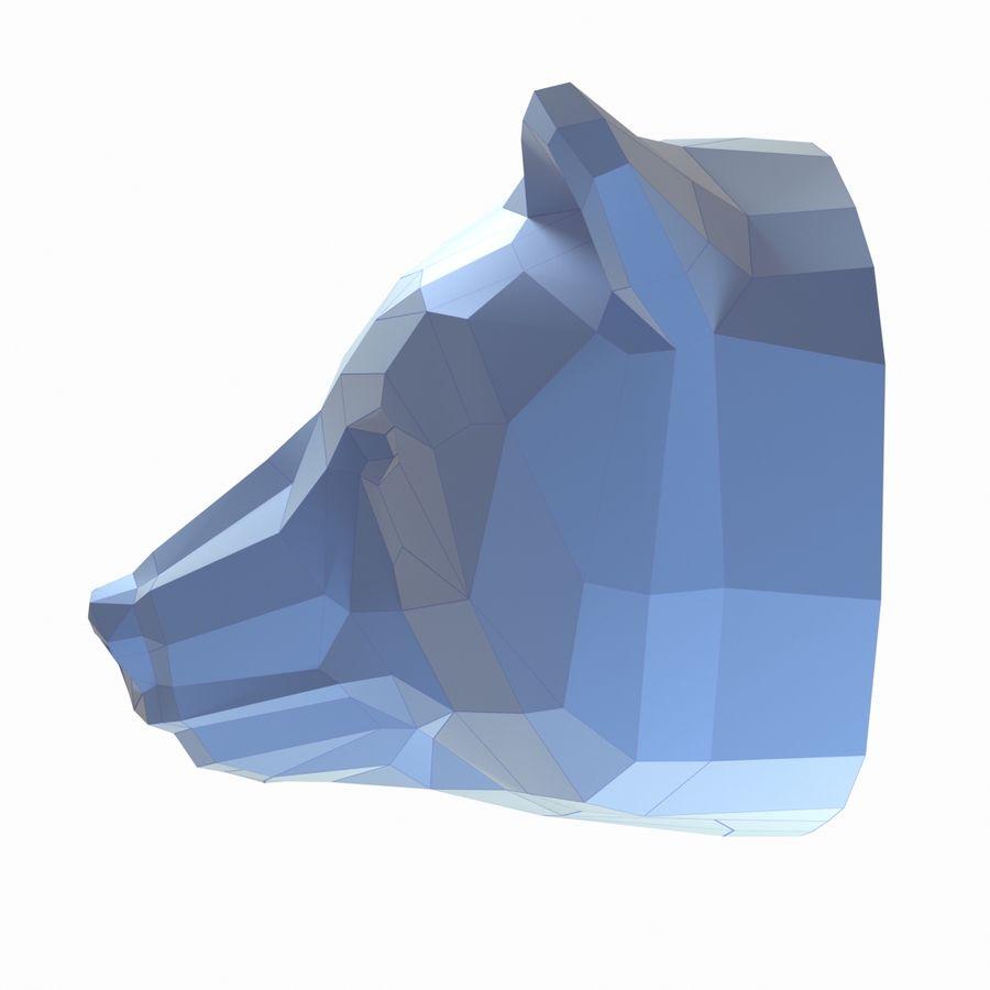 Papercraft de cabeça de urso royalty-free 3d model - Preview no. 3
