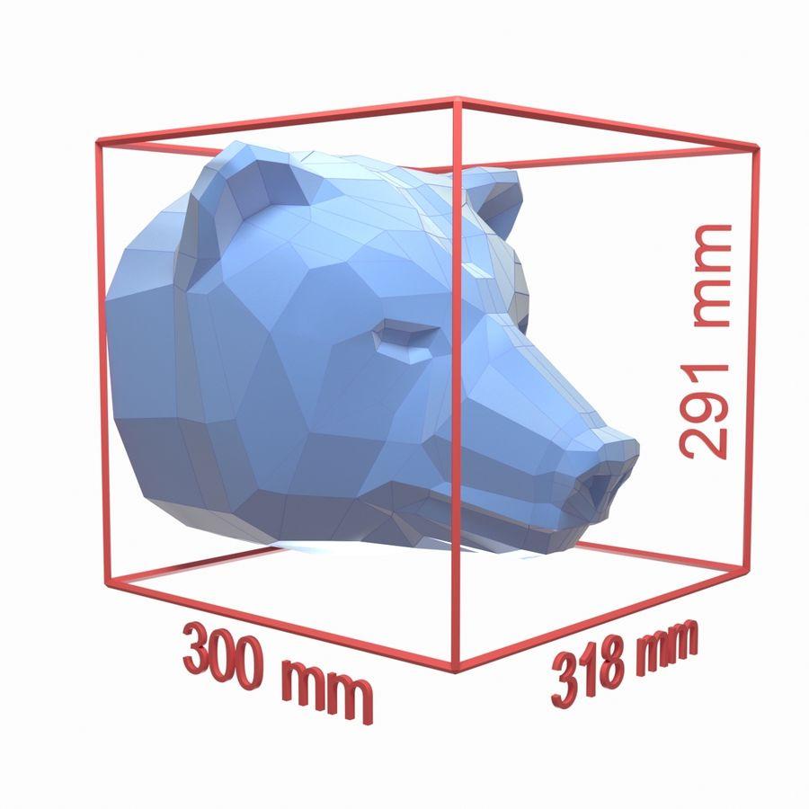 Papercraft de cabeça de urso royalty-free 3d model - Preview no. 7