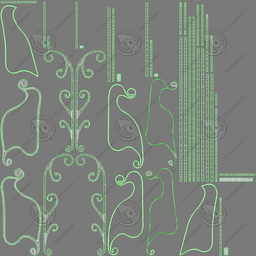 Slitta di Babbo Natale royalty-free 3d model - Preview no. 17