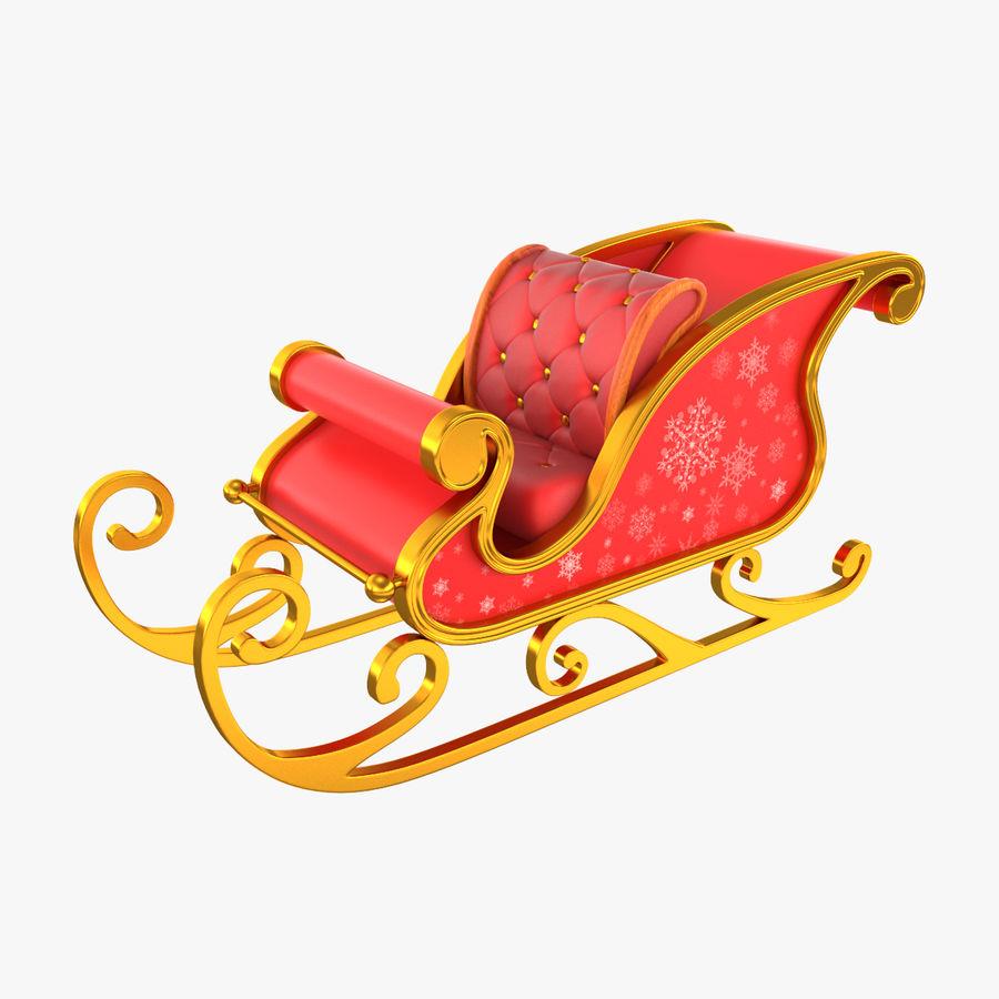Slitta di Babbo Natale royalty-free 3d model - Preview no. 1