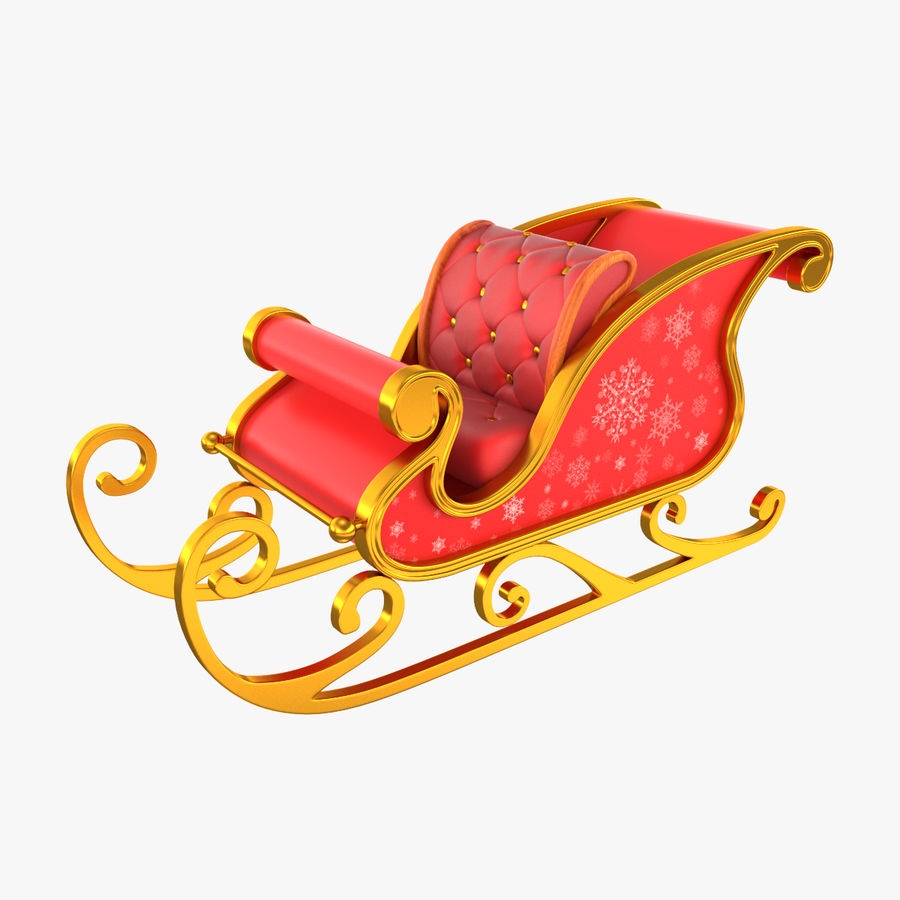 Санки Санта royalty-free 3d model - Preview no. 1