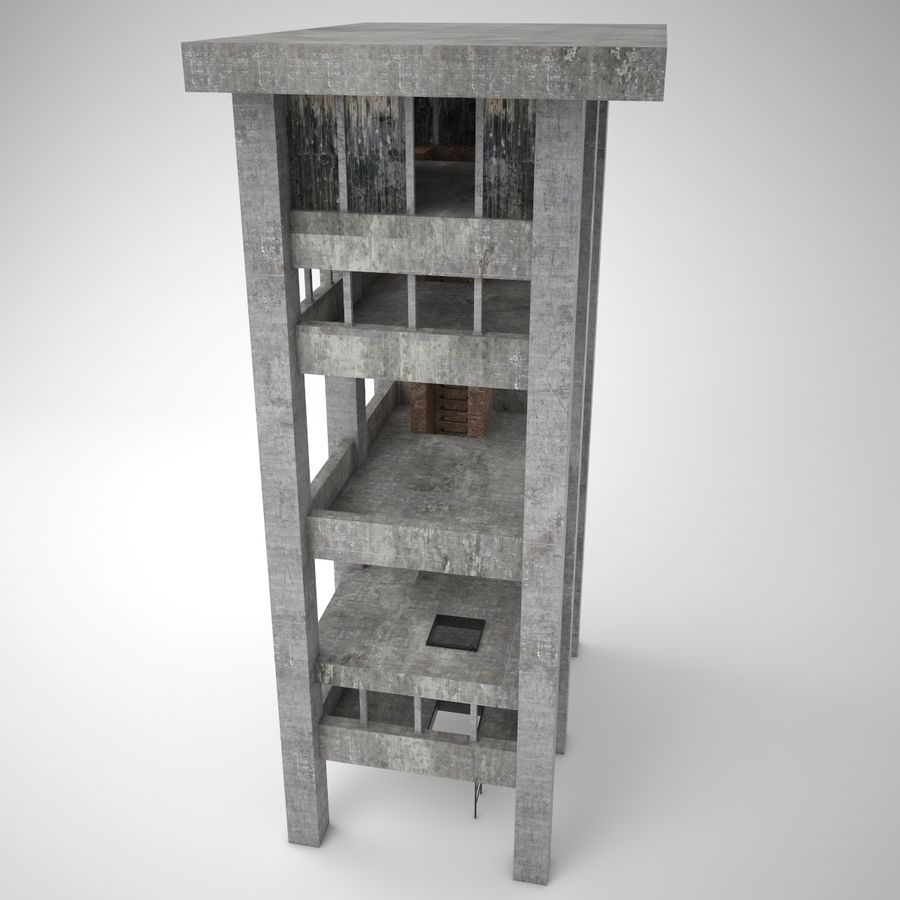Edificio en ruinas royalty-free modelo 3d - Preview no. 7