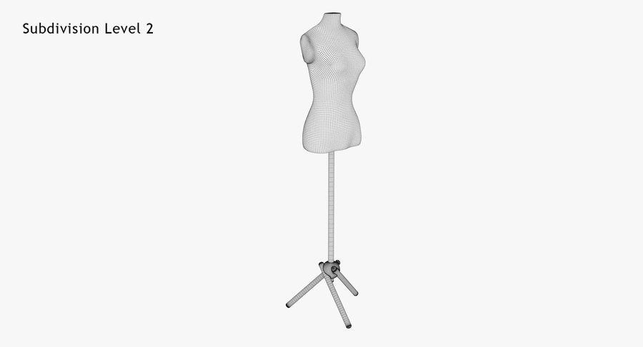 Kadın manken royalty-free 3d model - Preview no. 13
