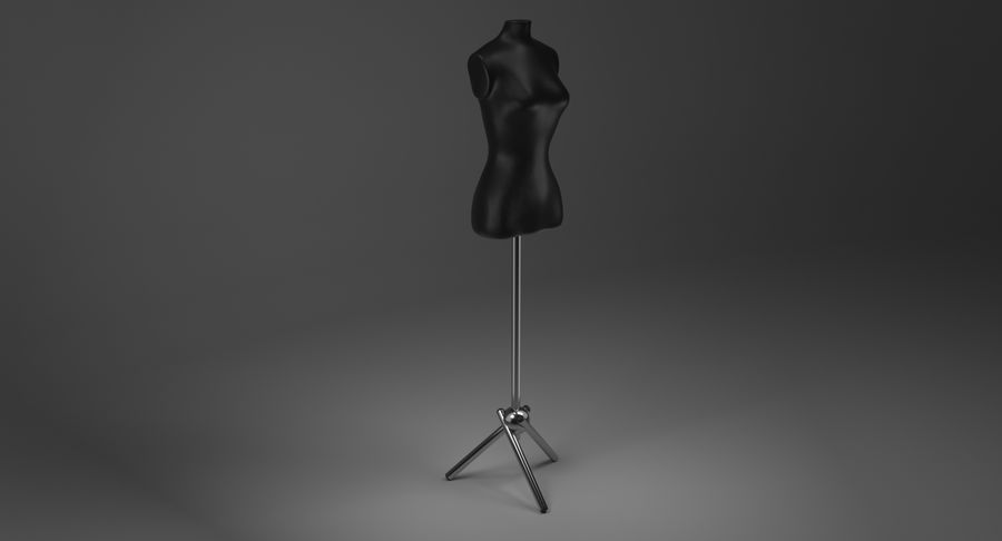 Kadın manken royalty-free 3d model - Preview no. 4