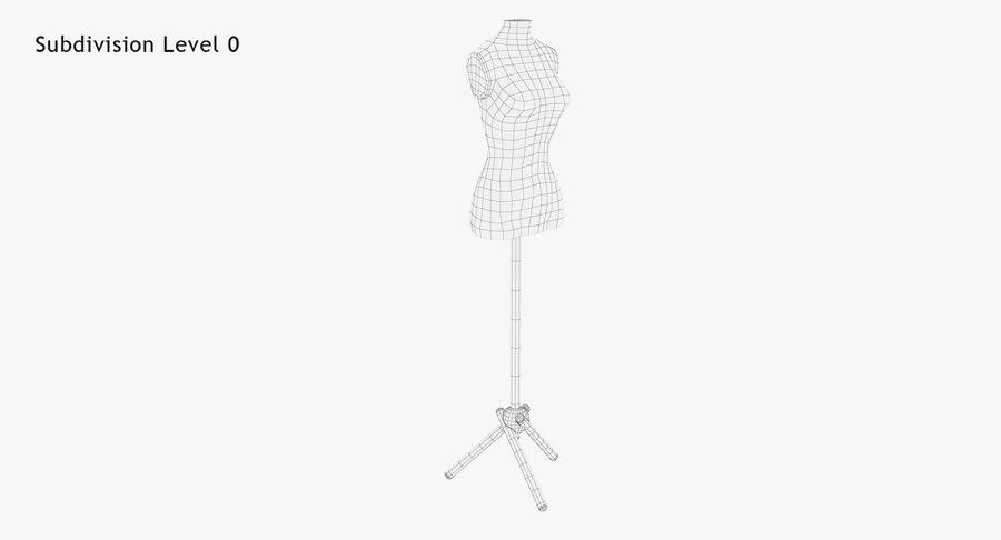 Kadın manken royalty-free 3d model - Preview no. 11