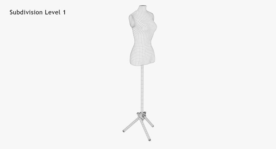 Kadın manken royalty-free 3d model - Preview no. 12