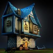 Medieval Stylized House 3d model