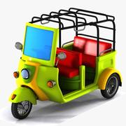 Toon Tricycle 3d model
