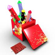 Pudełko fajerwerków 3d model